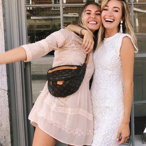 Light pink lace dress! Size 4! Worn twice!